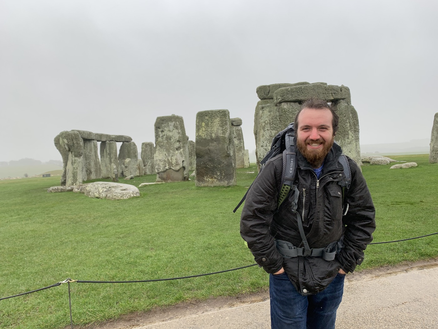 Me at Stonehenge in the rain