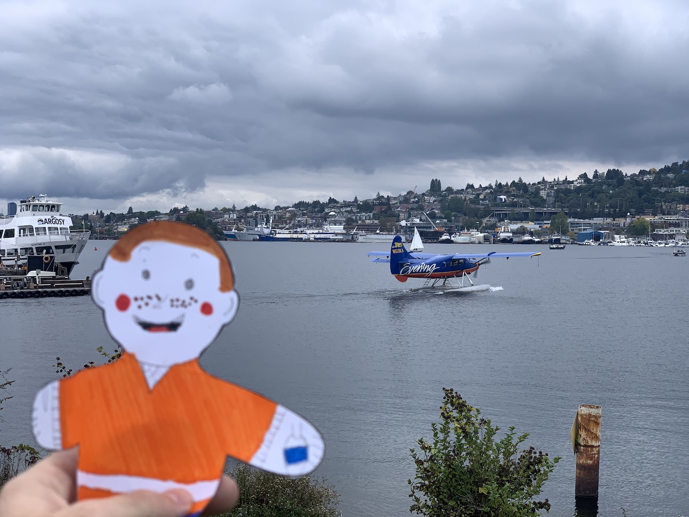 Stanley with Sea Plane on Lake Union